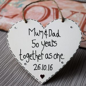 50th wedding anniversary gifts for mum and dad