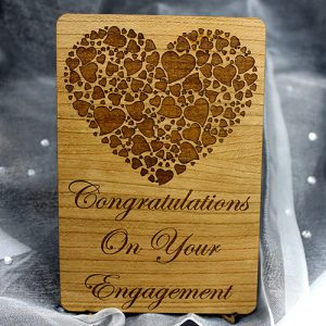 wooden Engagement Gift Card
