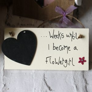 Flowergirl Wedding Countdown Sign