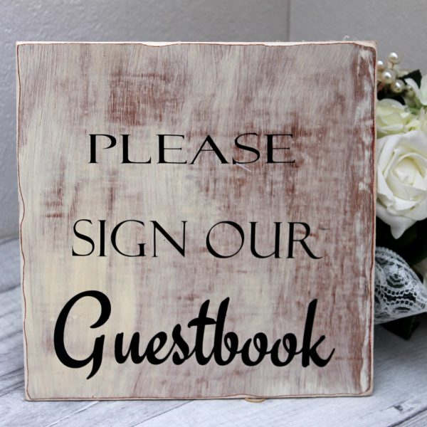 Please sign our guestbook wooden sign