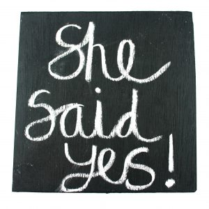 chalkboard engagement announcement