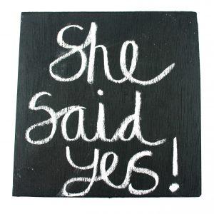 chalkboard engagement announcement