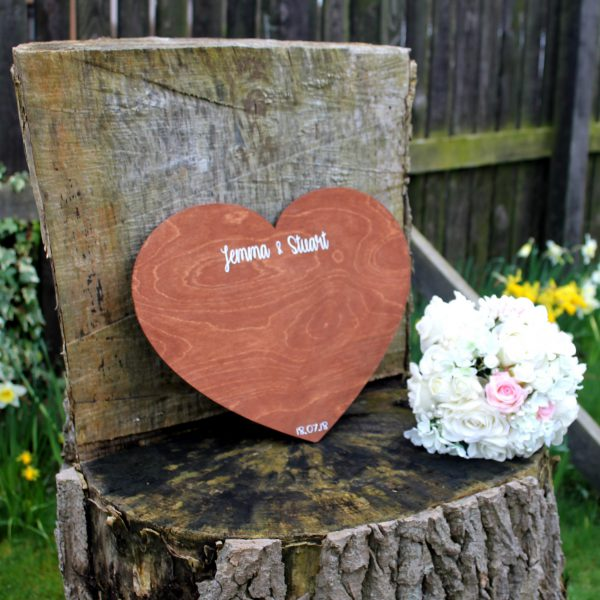 personalised wooden guest book