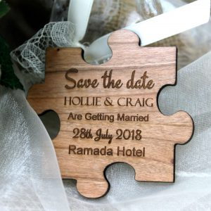 Save the Date Wooden Wedding Zigsaw