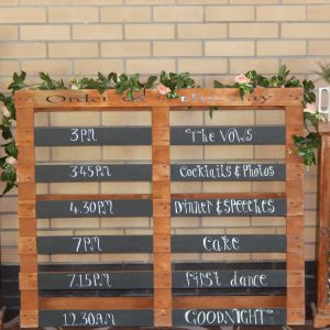 Table Plans | Order Of The Day Signs