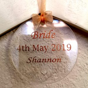 Bride Coat Hanger Tag