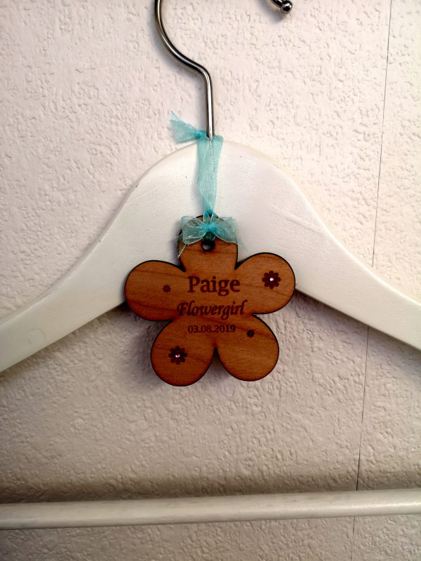 flowergirl coat hanger tag