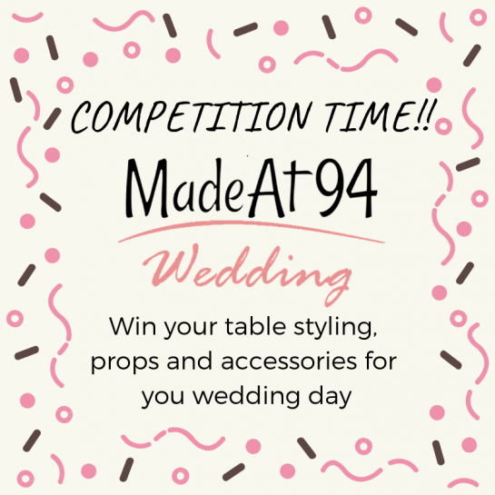 **Competition** Win Free Table Styling, Props and Accessories
