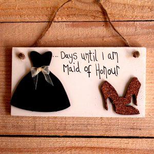 bridesmaid countdown sign
