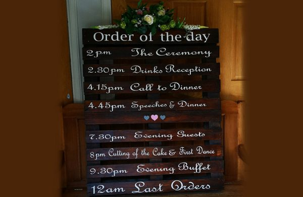 order of the day pallet