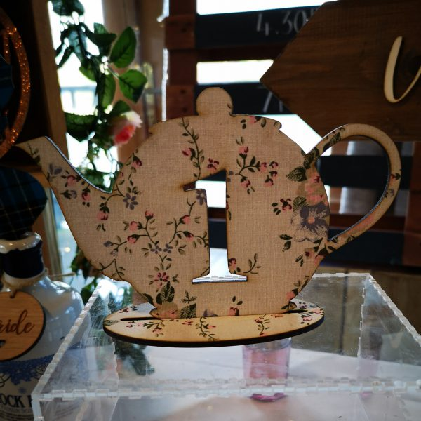 Tea Pot Table Number