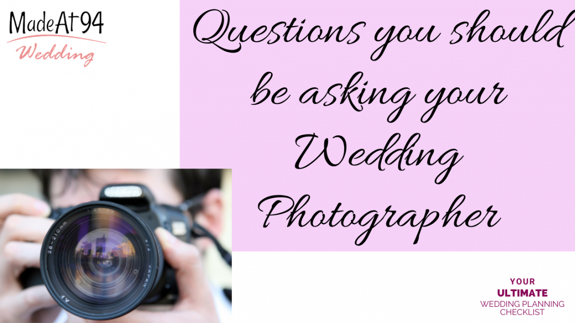 Key Questions You Need To Ask You Wedding Photographer