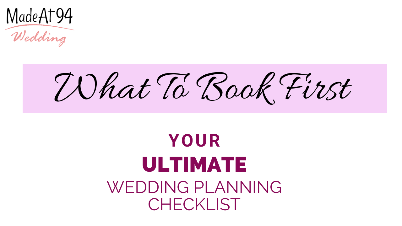Essential To Dos When Planning Your Wedding